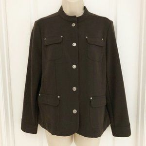 JM Collection Jacket Brown 10P
